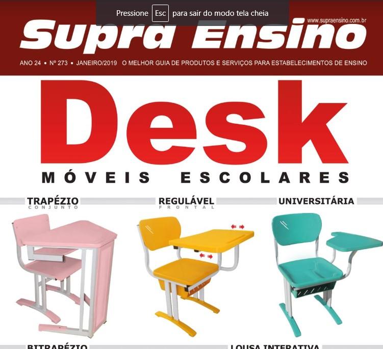 Saímos na edição de Janeiro da Revista Supra Ensino, na página 14.