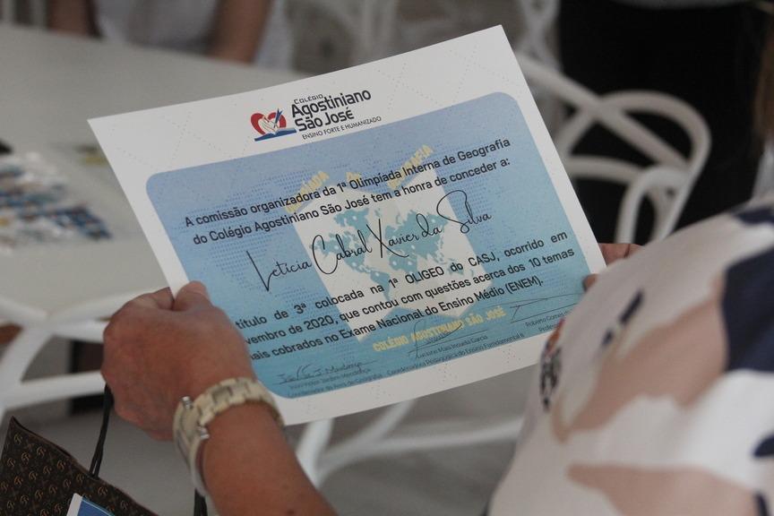 Premiação – Olimpíadas de Geografia CASJ